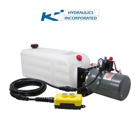 8 Quart 12V KTI Single Acting Hydraulic Pump