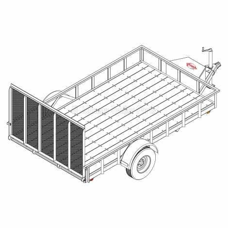 6' 10 x 12' Utility Trailer Plans Blueprints - 5,200 lb Capacity