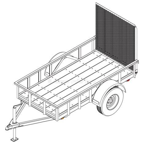 4' x 8' Utility Trailer Blueprints