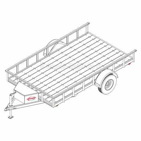 6′ 10″ x 12′ Utility Trailer Plans – 3,500 lb Capacity   4