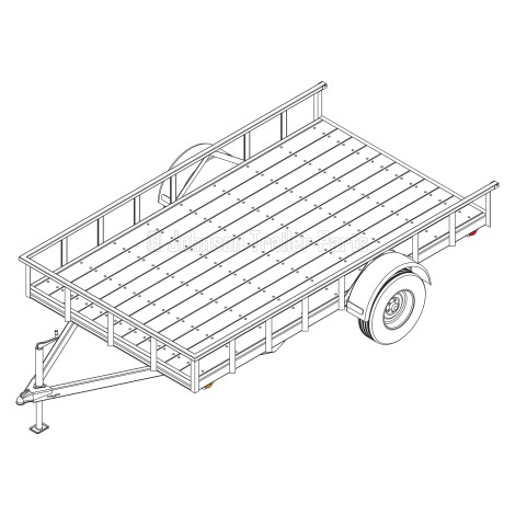 6′ 10″ x 12′ Utility Trailer Plans – 3,500 lb Capacity   5