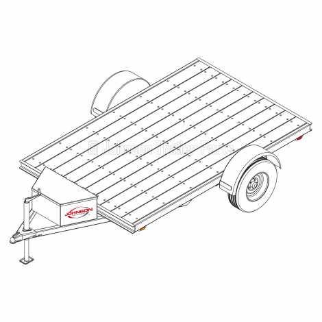 6′ 4″ x 10′ Utility Trailer Plans – 3,500 lb Capacity - 5