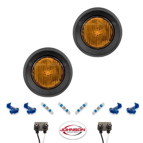S30 | Pair of 2″ Grommet Mount Amber LED Side Markers