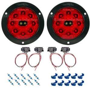 T45   Hi Visibility LED Tail Light Kit - Flange Mount