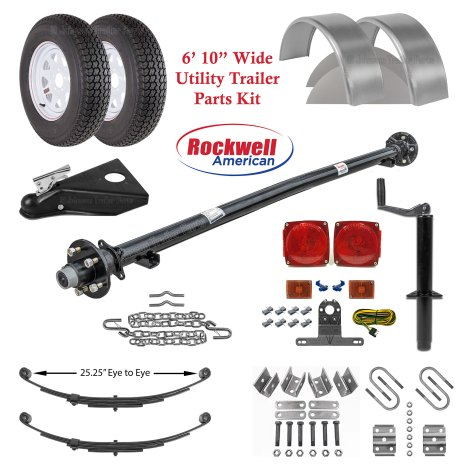 6ft 10in Utility Trailer Parts Kit - 3,500 lb Capacity