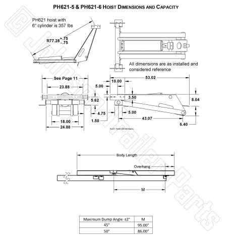 Hydraulic Scissor Hoist Kit | Model PH621-6