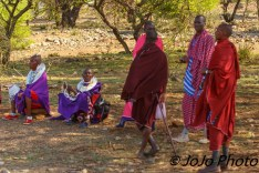 Maasai men and women in Tanzania