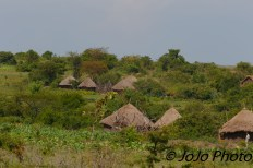 Maasai Village on the way to Ngorongoro Crater