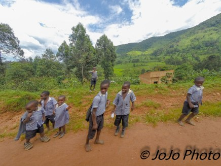 Ugandan School Children in Bwindi Impenetrable National Park