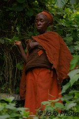 Batwa Pygmy Elder in Bwindi National Park