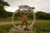 Mark holding up the Equator