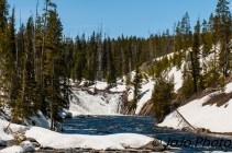 Lewis Falls near the south entrance of Yellowstone National Park