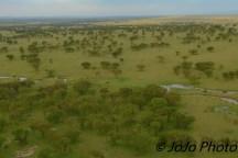 Mara River Tributary seen from Hot Air Balloon Ride in Serengeti