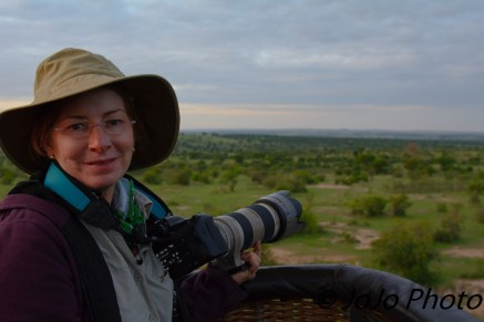 Mary in Hot Air Balloon Ride in Serengeti