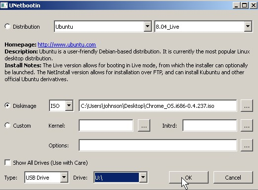 Change the drive letter to the drive lettter you want to use and click OK