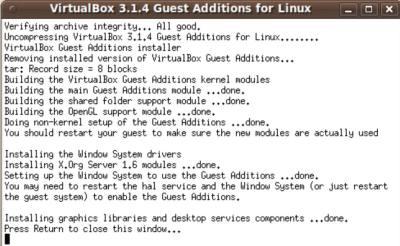 After terminal is done running autorun.sh restart Ubuntu!