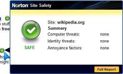 Website summary for Norton Web search