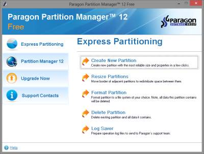Paragon Partition Manager 12 Free
