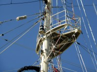 They call it the 'crows nest' but I think 'cuckoos' nest is more appropriate - you'd have to be cuckoo to get up there.