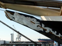 I was intrigued to see the way the rope winds through the figurehead