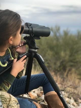 Daughter Glassing for deer