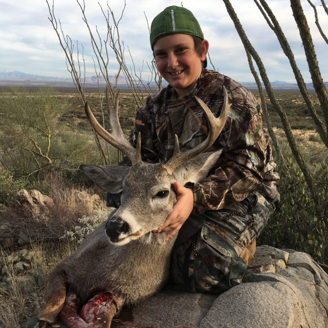 Nephew with Coues Buck