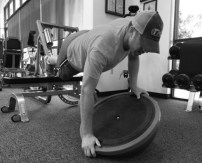 bosu woble push up