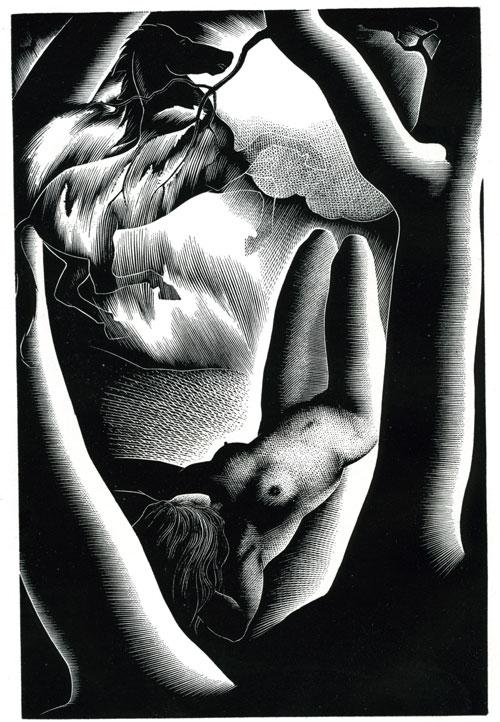 Yesterday - wood-engraving by Paul Landacre