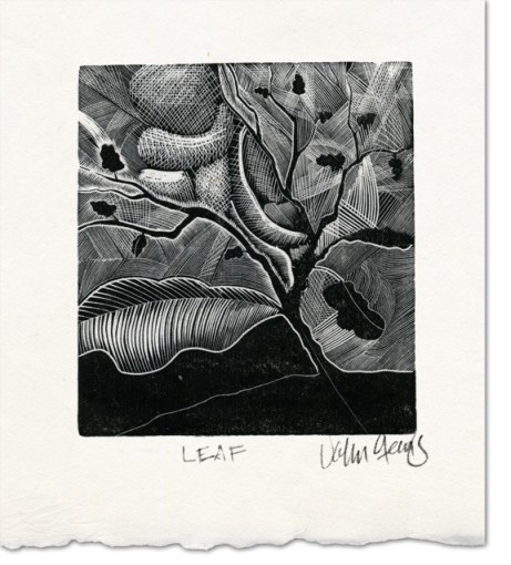 leaf wood engraving