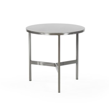 James End Table, Metal Top