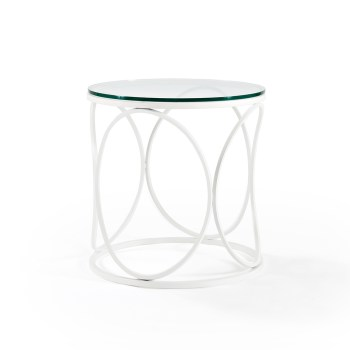 Helena End Table - Clear Glass