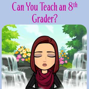 Can You Teach an 8th Grader