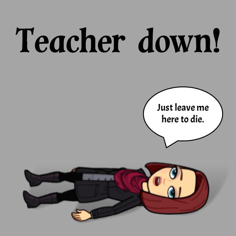 Teacher down