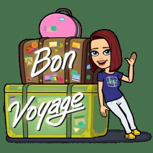 Bitmoji Bon voyage
