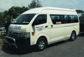 John's Trips & Tours Van