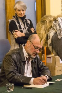 Author Tim Flannery signs Atmospher of Hope for Berkelouw Peters