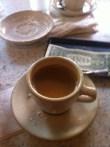 Cafe au lait at Cafe du Monde