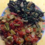 Okra & Tomatoes and Chard