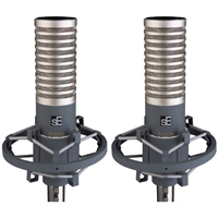 These are a matched pair and are great for stereo recordings of massed sounds such as choirs, brass sections and strings.  They can also be great used singly (or in conjunction with a dynamic mic) for certain electric guitar tones. And they make excellent drum overheads for some drumming styles.