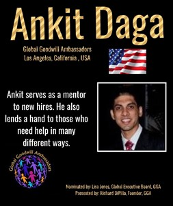 Ankit Daga - California - USA - Global Goodwill Ambassador