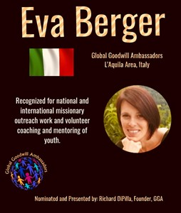 Eva Berger - Italy - Global Goodwill Ambassadors