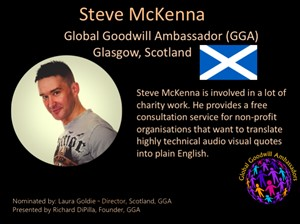 Steve McKenna - Global Goodwill Ambassador