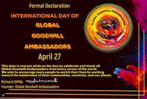 International Day of Global Goodwill Ambassadors 04-27