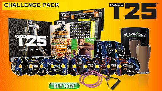 Focus T25 Discount Challenge Pack with Shakeology