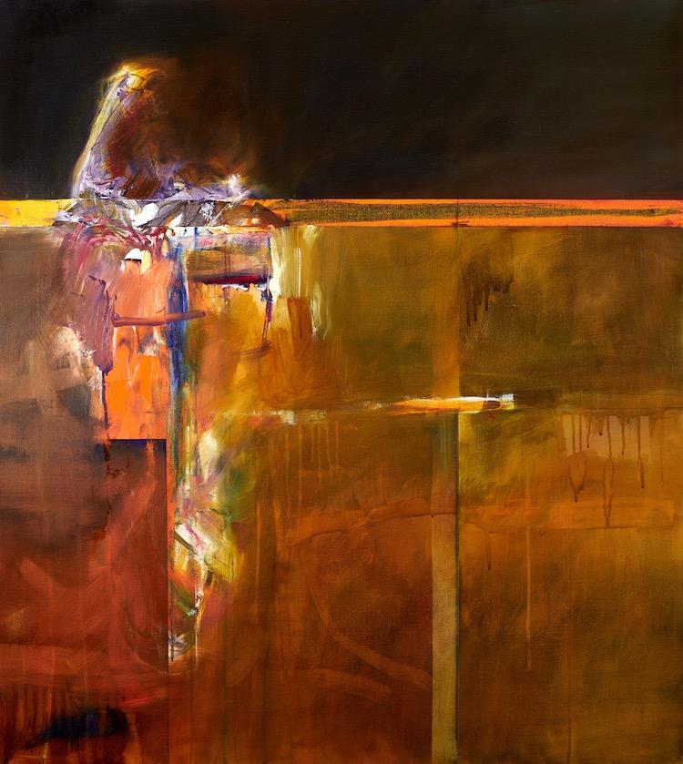 John Waller Landscape & Memory (Lake Gol Gol Road) 102 x 92 cm 2020 Oil on Linen