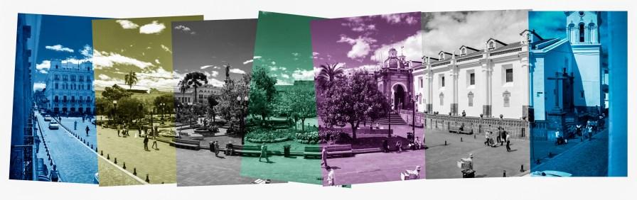 00257Quito Plaza de Indepencia Abw RedFilTint Flat