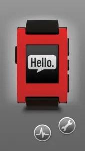 Pebble app home screen