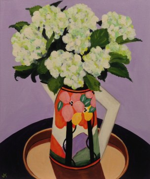 Hydrangeas in Clarice Cliff Vase