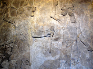 Ancient Assyrian relief 700-692 BC
