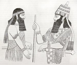 Assyrian artworks found in Nineveh. By unidentified author, publ